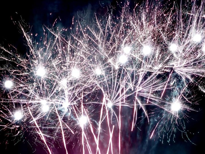 Multi merged fireworks
